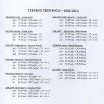 termini treninga 2020-2021 – nakon COVID-19